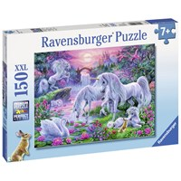 """Ravensburger (10021) - """"Unicorns in the Sunset Glow"""" - 150 pieces puzzle"""