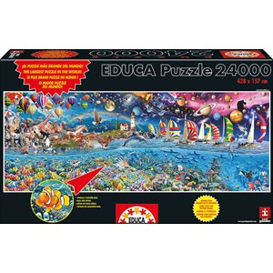 "Educa (13434) - Royce B. McClure: ""Life, The Greatest Puzzle"" - 24000 pieces puzzle"