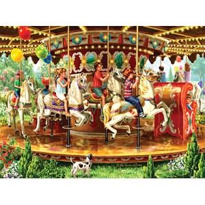 """SunsOut (59798) - Liz Goodrick-Dillon: """"Carousel Ride"""" - 1000 pieces puzzle"""