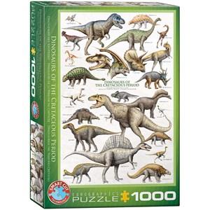 """Eurographics (6000-0098) - """"Dinosaurs Cretaceous"""" - 1000 pieces puzzle"""