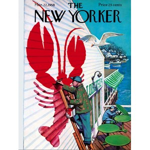 """New York Puzzle Co (NY168) - """"Seaside Cafe'"""" - 500 pieces puzzle"""