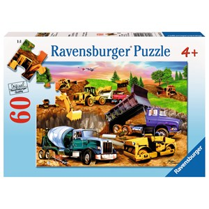 """Ravensburger (09525) - Michael Searle: """"Construction Crowd"""" - 60 pieces puzzle"""
