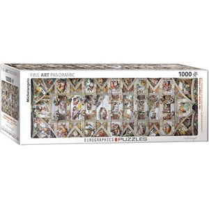 "Eurographics (6010-0960) - Michelangelo: ""The Sistine Chapel Ceiling"" - 1000 pieces puzzle"