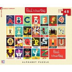 """New York Puzzle Co (PT1303) - Paul Thurby: """"Alphabet"""" - 48 pieces puzzle"""