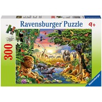 "Ravensburger (13073) - Adrian Chesterman: ""Evening at the Waterhole"" - 300 pieces puzzle"