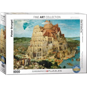 "Eurographics (6000-0837) - Pieter Brueghel the Elder: ""The Tower of Babel"" - 1000 pieces puzzle"