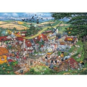 """Gibsons (G794) - Mike Jupp: """"I Love the Farmyard"""" - 1000 pieces puzzle"""