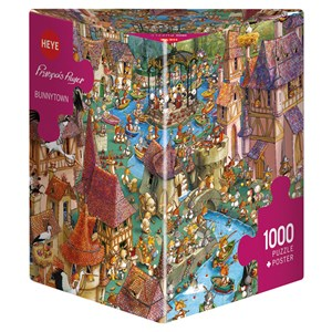 "Heye (29496) - François Ruyer: ""Bunnytown"" - 1000 pieces puzzle"