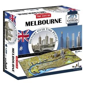 """4D Cityscape (40060) - """"Melbourne, Australia"""" - 1200 pieces puzzle"""