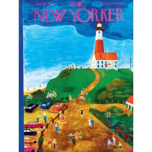 "New York Puzzle Co (NY023) - Ilonka Karasz: ""The Lighthouse"" - 500 pieces puzzle"