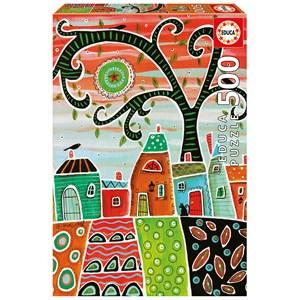"""Educa (17091) - Karla Gerard: """"White Trim"""" - 500 pieces puzzle"""