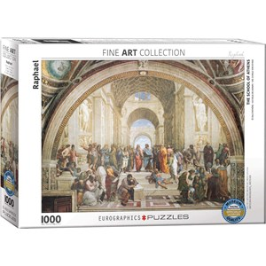 "Eurographics (6000-4141) - Raphael: ""School of Athens"" - 1000 pieces puzzle"