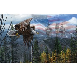 """SunsOut (55746) - Kevin Daniel: """"May Freedom Fly Forever"""" - 550 pieces puzzle"""