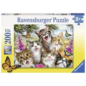 "Ravensburger (12620) - Howard Robinson: ""Friendly Felines"" - 200 pieces puzzle"