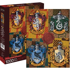 "Aquarius (65303) - ""Harry Potter Crests"" - 1000 pieces puzzle"