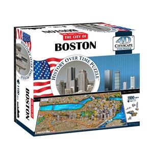 "4D Cityscape (40080) - ""Boston, USA"" - 1100 pieces puzzle"