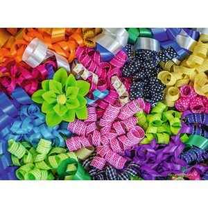 "Ravensburger (14691) - Carole Gordon: ""Colorful Ribbons"" - 500 pieces puzzle"