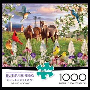 """Buffalo Games (11166) - Hautman Brothers: """"Evening Meadow"""" - 1000 pieces puzzle"""