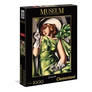 "Clementoni (39332) - Tamara de Lempicka: ""Young Girl In Green"" - 1000 pieces puzzle"