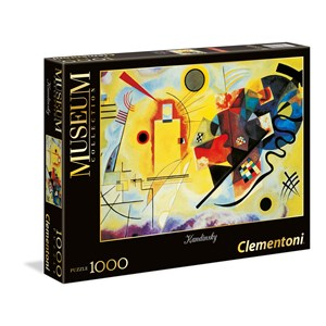 "Clementoni (39195) - Vassily Kandinsky: ""Yellow-Red-Blue"" - 1000 pieces puzzle"