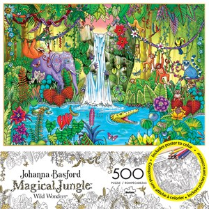 "Buffalo Games (3847) - Johanna Basford: ""Magical Jungle"" - 500 pieces puzzle"