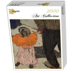 "Grafika (01809) - Edouard Vuillard: ""Child Wearing a Red Scarf, 1891"" - 2000 pieces puzzle"