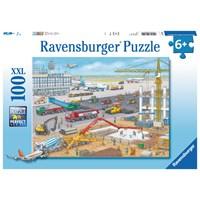 "Ravensburger (10624) - ""Construction Site at the Airport"" - 100 pieces puzzle"