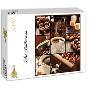 "Grafika (00802) - ""Coffee Collage"" - 1500 pieces puzzle"