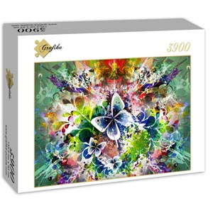"""Grafika (01301) - """"Spring Flowers and Butterflies"""" - 3900 pieces puzzle"""