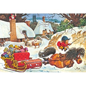 """Gibsons (G3090) - Norman Thelwell: """"A Thelwell Christmas"""" - 500 pieces puzzle"""